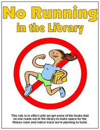 no running in the library