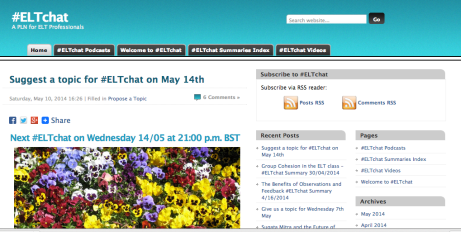 ELTchat - a PLN in the making: a screen shot.