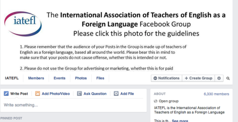 IATEFL Facebook group page