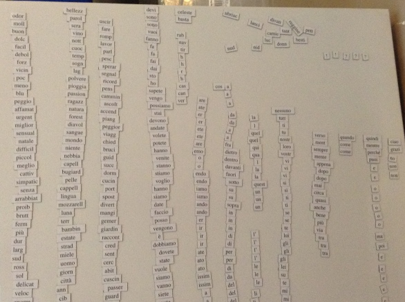 I particularly enjoyed classifying All The Words...well, nearly all!