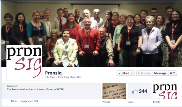 Screenshot of IATEFL Pron SIG Facebook Page