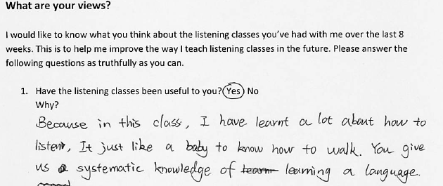 Teaching Academic Listening (and transferral to the General