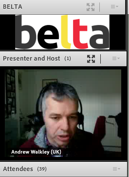 Andrew delivering an awesome webinar!