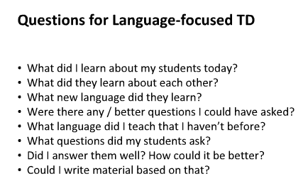 Questions to help us develop!