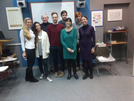 All of us ss and t together: Happy language learners, lucky to have such a good teacher! :)