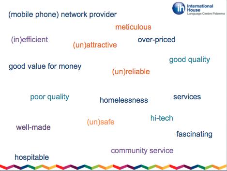 Vocabulary for teens